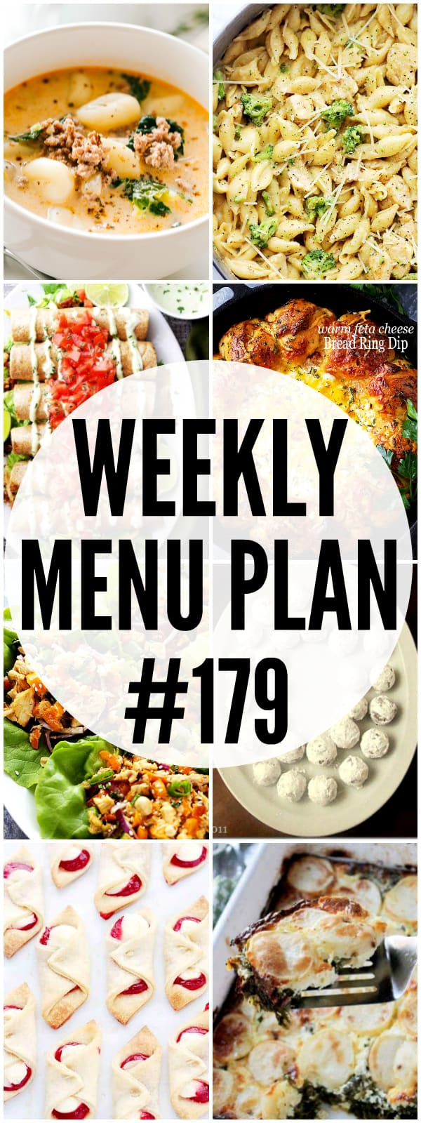 WEEKLY MENU PLAN 179