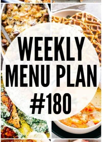 WEEKLY MENU PLAN 180