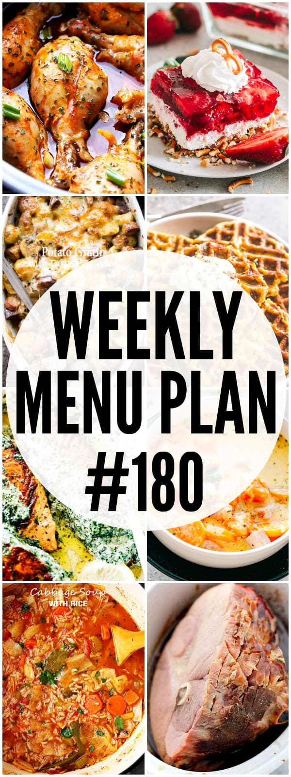 WEEKLY MENU PLAN 180