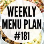 WEEKLY MENU PLAN (#181)