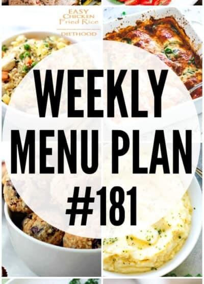 WEEKLY MENU PLAN (#181)