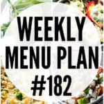 WEEKLY MENU PLAN (#182)
