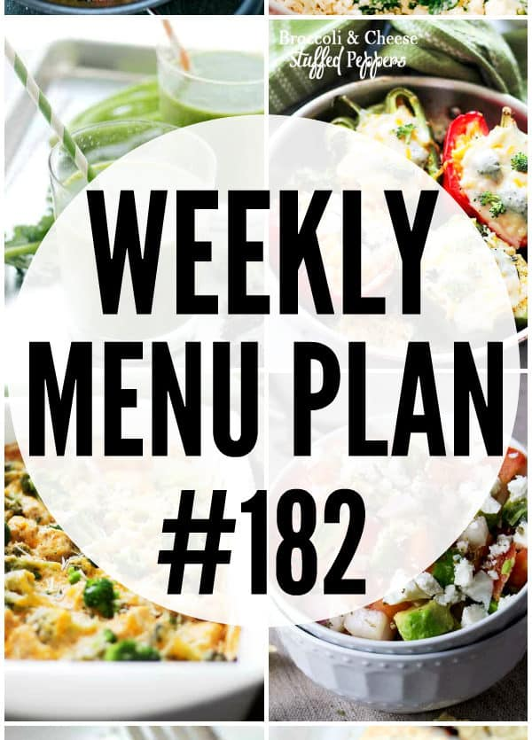 Weekly Menu Plan 182