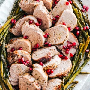 One Pan Roasted Pork Tenderloin with Asparagus