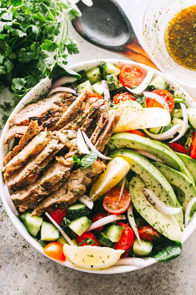 Steak Salad with Dijon Balsamic Dressing