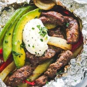 Chili Lime Steak Fajitas | How to Make Fajitas in Foil Packs