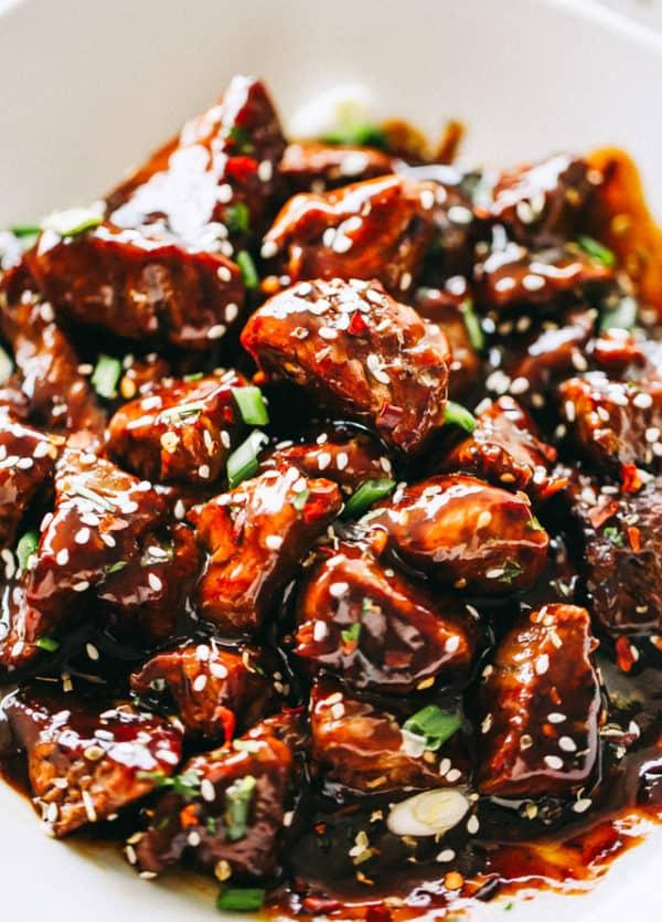 Honey Garlic Steak Bites | Easy Sirloin Steak Game Day Recipe