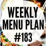 WEEKLY MENU PLAN (#183)