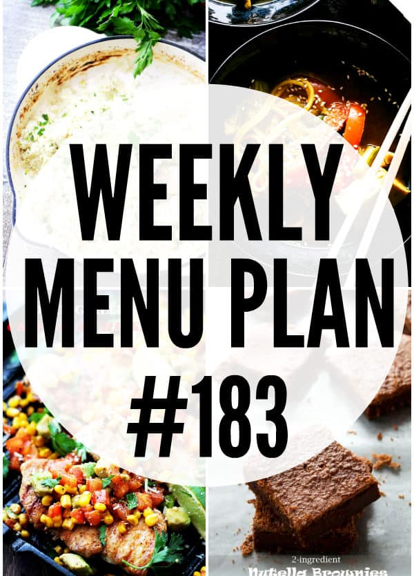 WEEKLY MENU PLAN 183