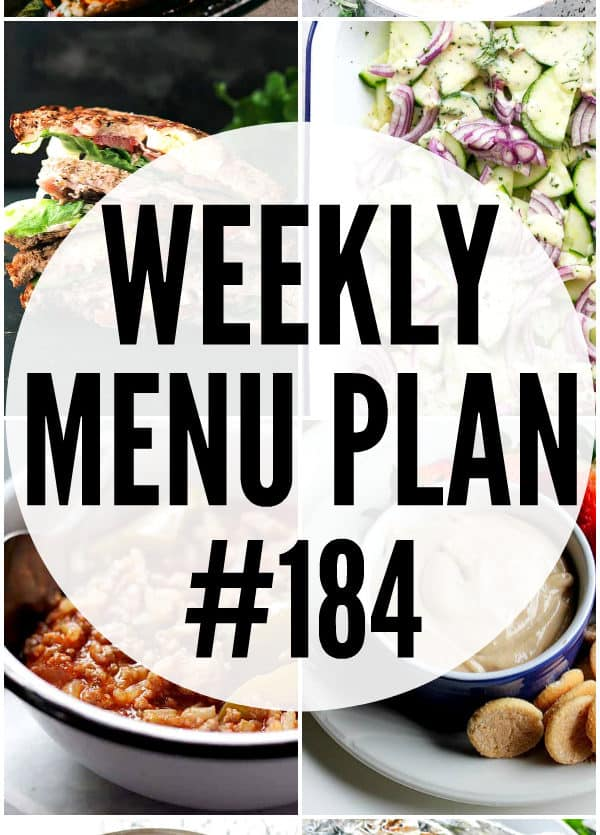 WEEKLY MENU PLAN 184