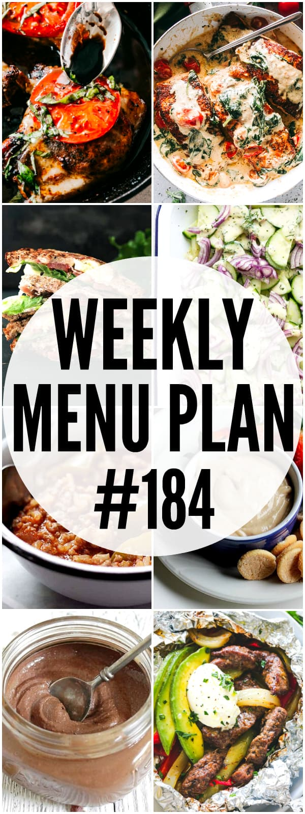 WEEKLY MENU PLAN 184