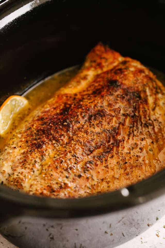 Slow Cooker Salmon With Creamy Lemon Sauce Diethood
