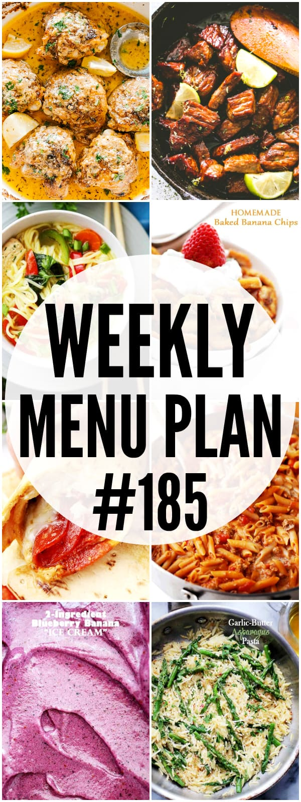 WEEKLY MENU PLAN #185