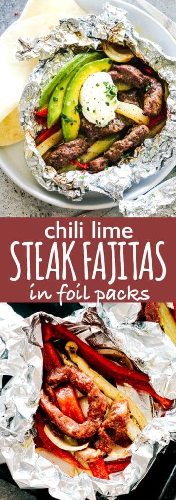 Steak Fajitas in Foil Packets
