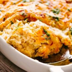 Cheesy Chicken and Cauliflower Rice Casserole