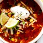 Chicken Enchilada Soup Bowl