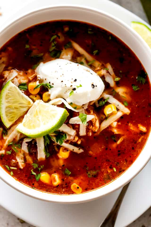 Chicken Enchilada Soup Bowl