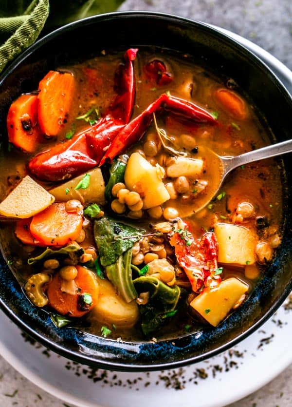 Easy Lentil Soup Recipe   Healthy Soup & A Bowl of Comfort!