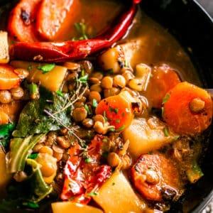 Bowl with Lentil Soup