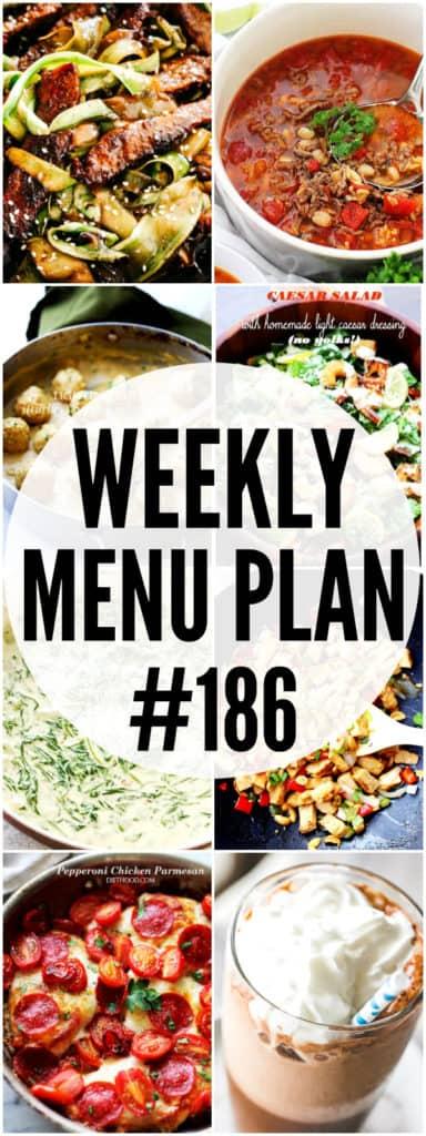 WEEKLY MENU PLAN #186