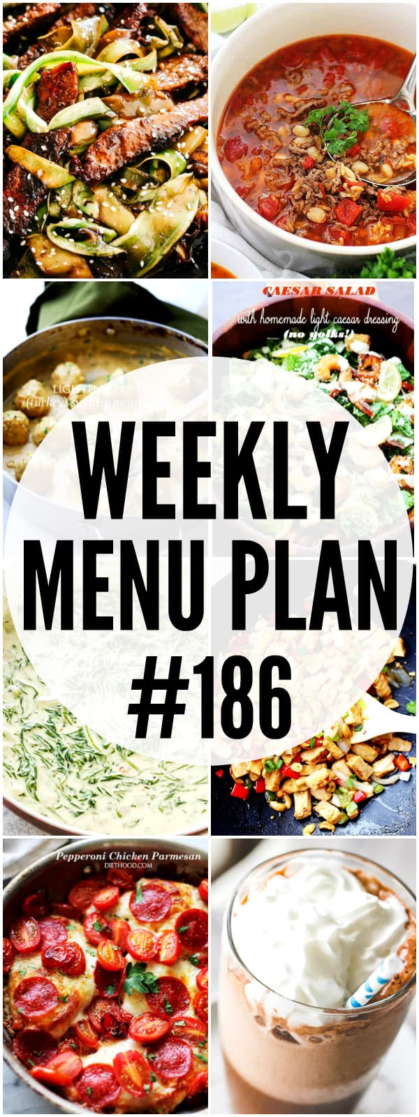 WEEKLY MENU PLAN #186