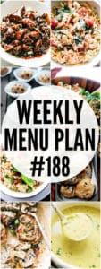 WEEKLY MENU PLAN 188