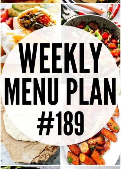 WEEKLY MENU PLAN 189