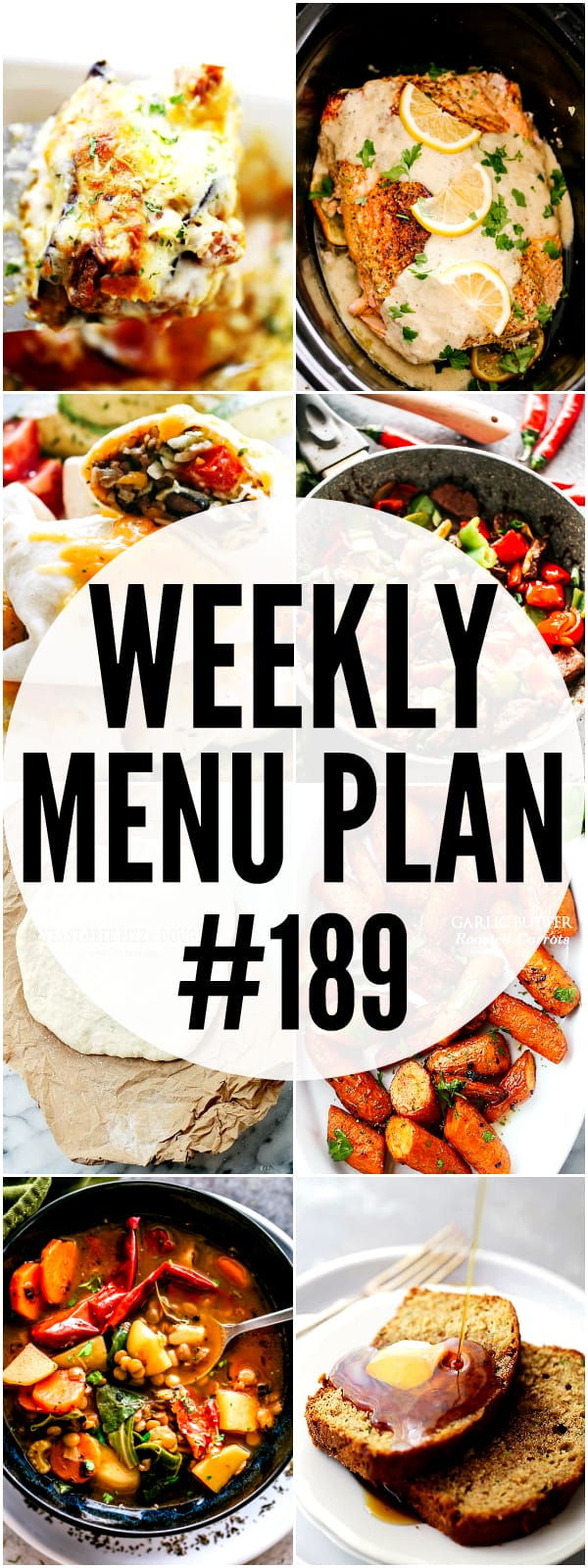 WEEKLY MENU PLAN 189