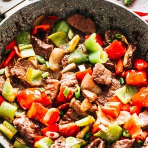 Chinese Pepper Steak Stir Fry