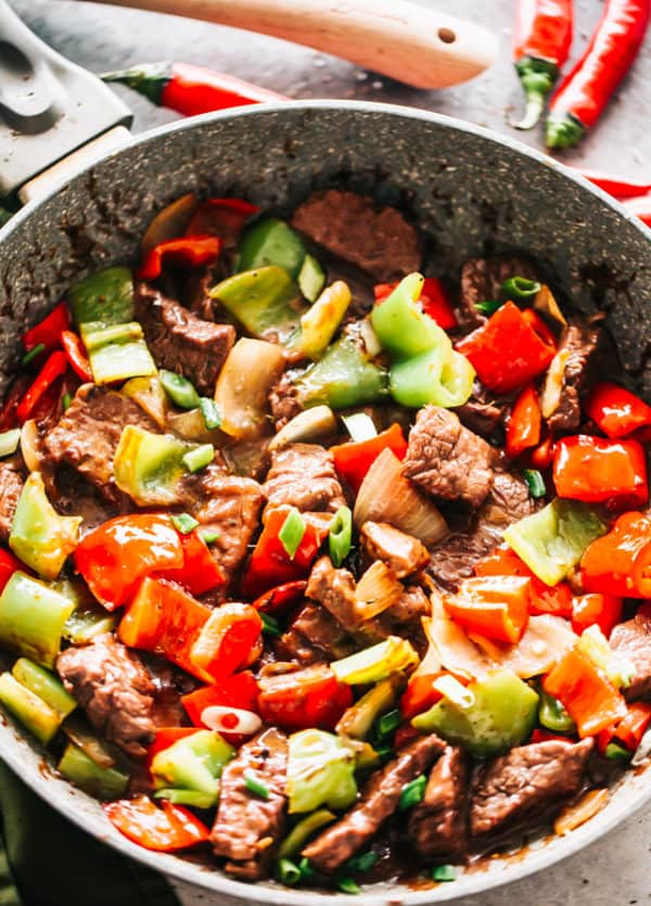 Chinese Pepper Steak Stir Fry