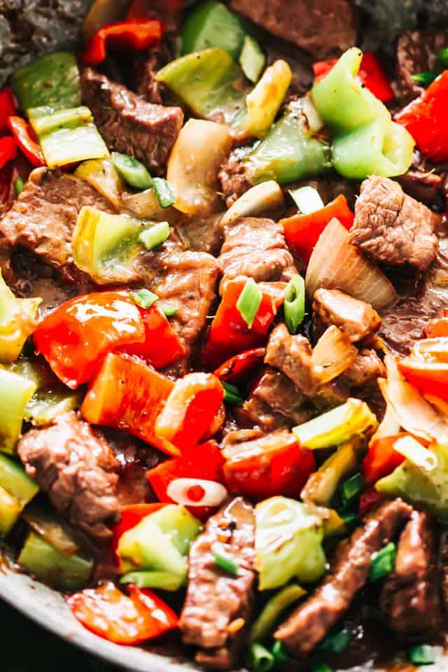 Pepper Steak Stir Fry Dinner