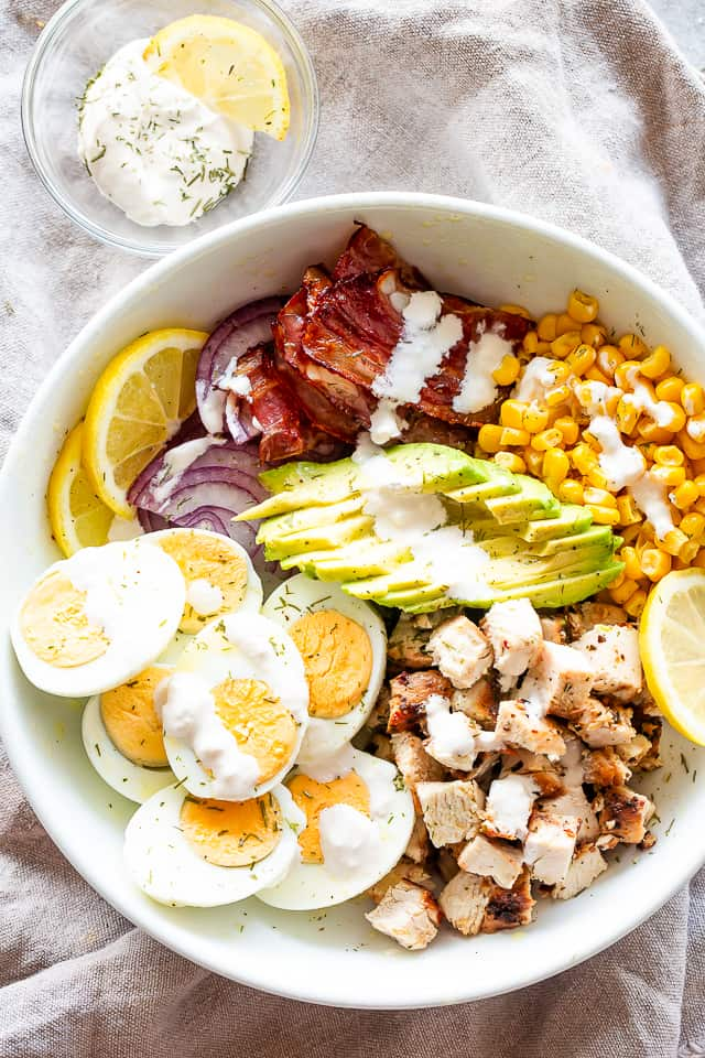Chicken Egg Salad with Avocados