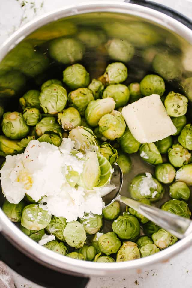 Easy Brussel Sprouts in Instant Pot