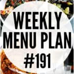 WEEKLY MENU PLAN (#191)