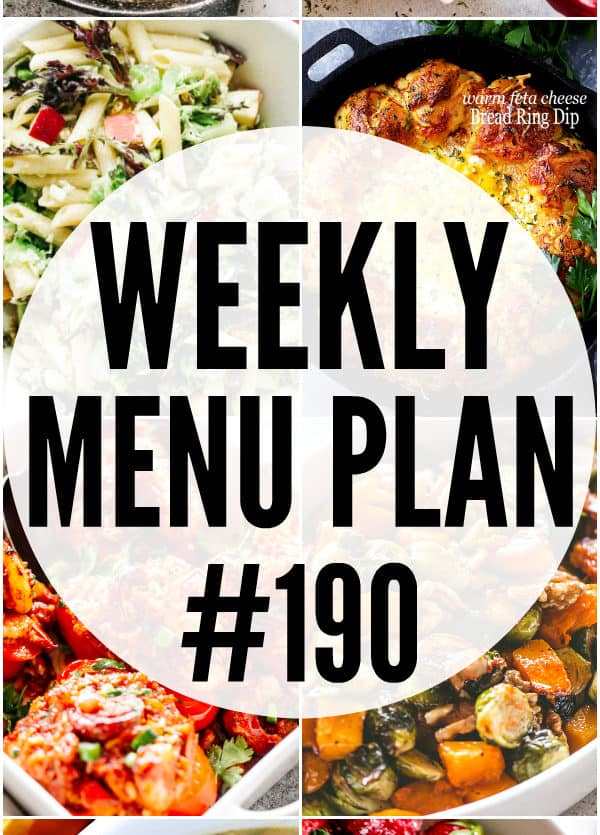 WEEKLY MENU PLAN 190