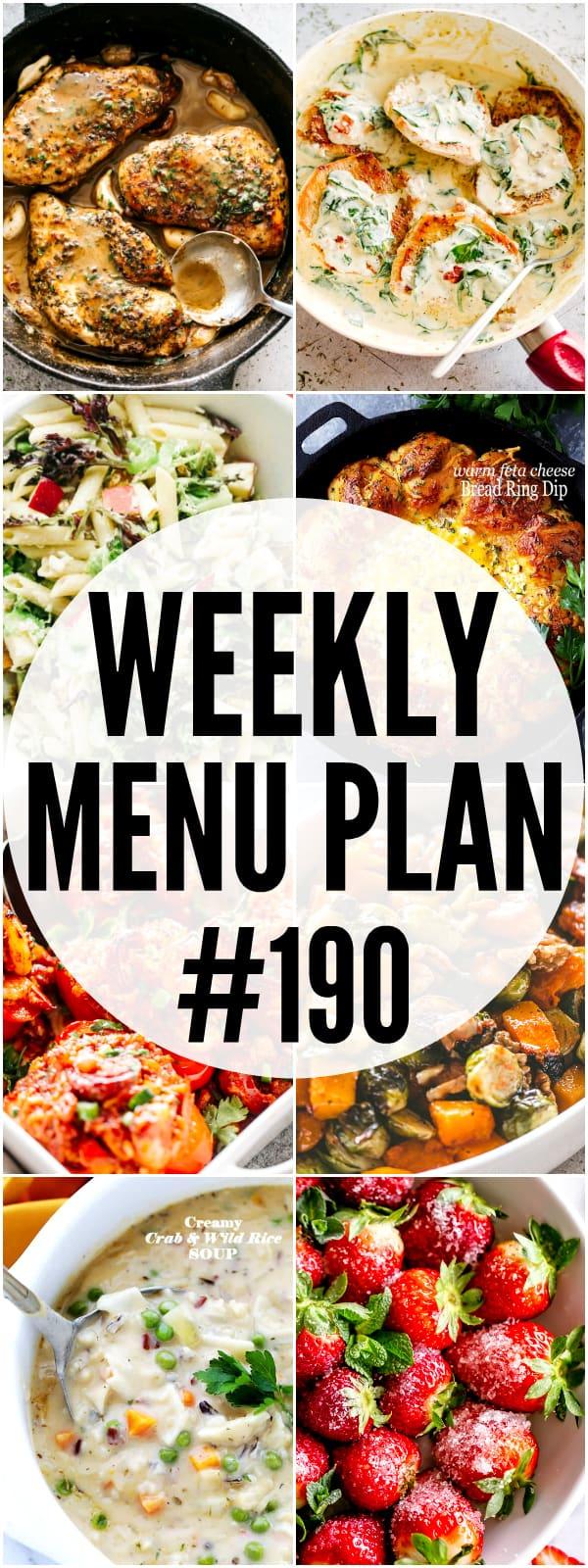 WEEKLY MENU PLAN 190