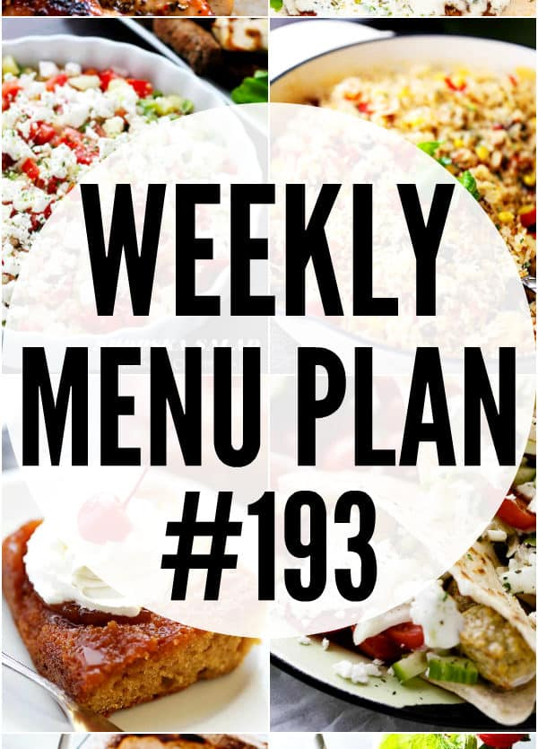 WEEKLY MENU PLAN COLLAGE PIN