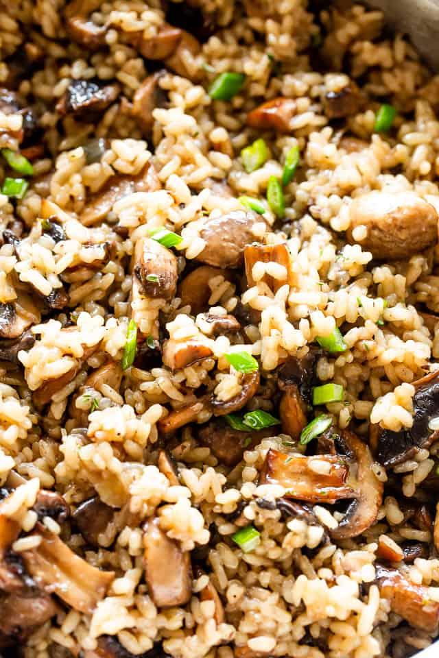 Buttery & Garlicky Mushroom Rice | Easy Mushroom Side Dish Recipe