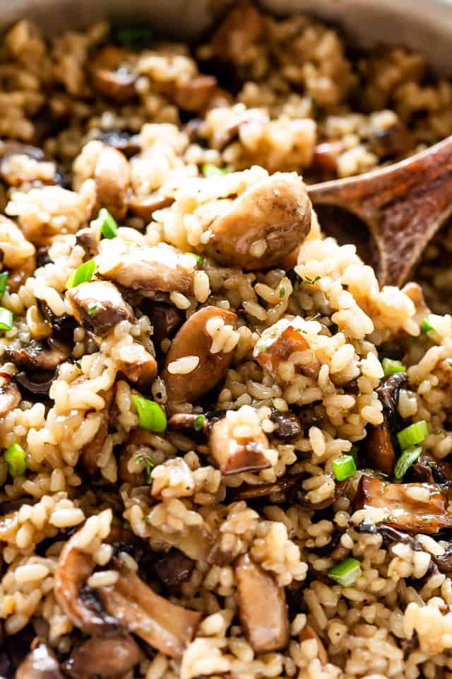 One Pot Rice with Mushrooms