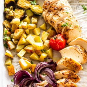 Chicken Breasts on a Sheet Pan