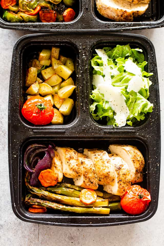 Chicken Potatoes and Vegetables Meal Prep