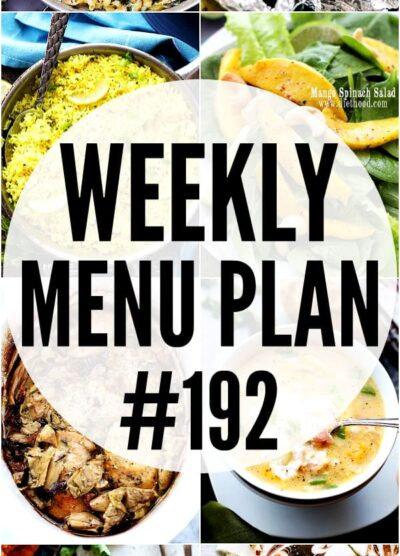 WEEKLY MENU PLAN 192