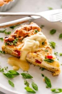 Low Carb Cauliflower Crust Breakfast Quiche