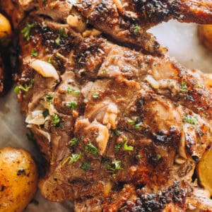 Garlic-Herb and Paprika Roast Leg of Lamb Recipe | Diethood