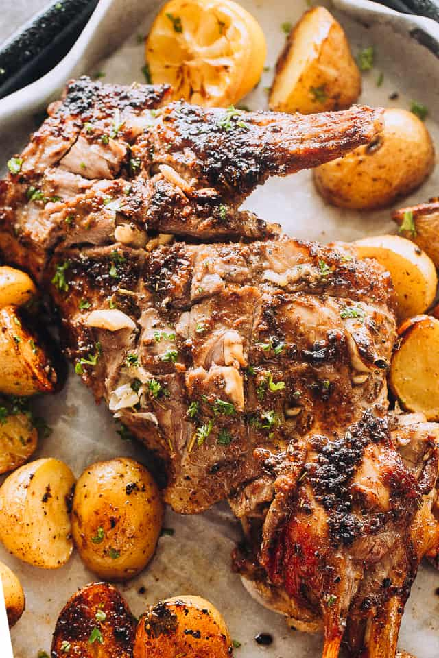 Roast Leg of Lamb and Potatoes