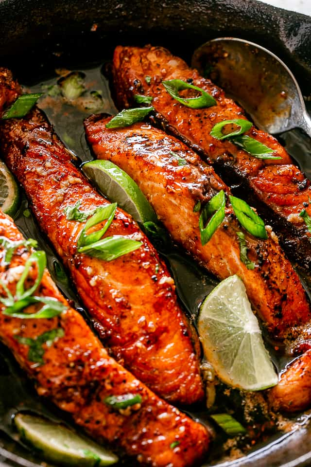 Honey Garlic Salmon Fillets