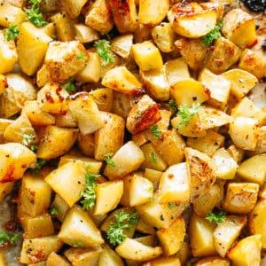 Maple Mustard Roasted Potatoes