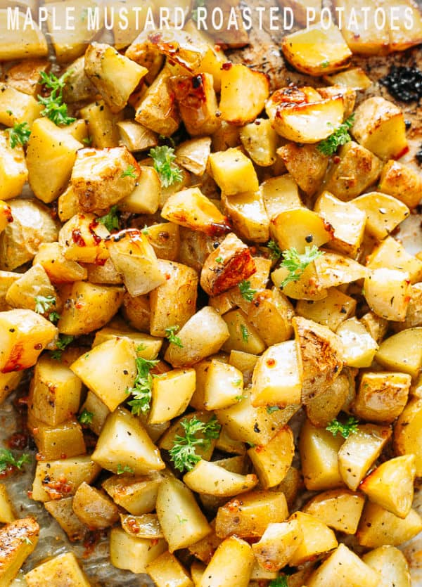 Maple Mustard Roasted Potatoes