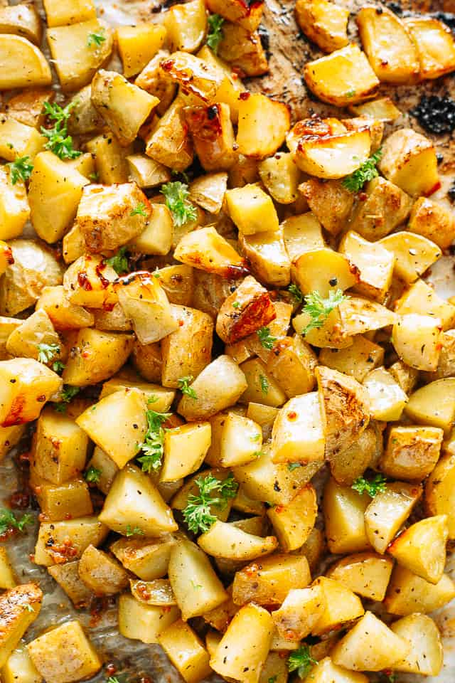 Maple Mustard Potatoes