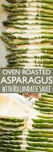 Roasted Asparagus with Hollandaise Sauce Pinterest Collage
